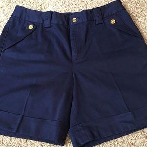 LAUREN Ralph Lauren Navy Cotton Shorts